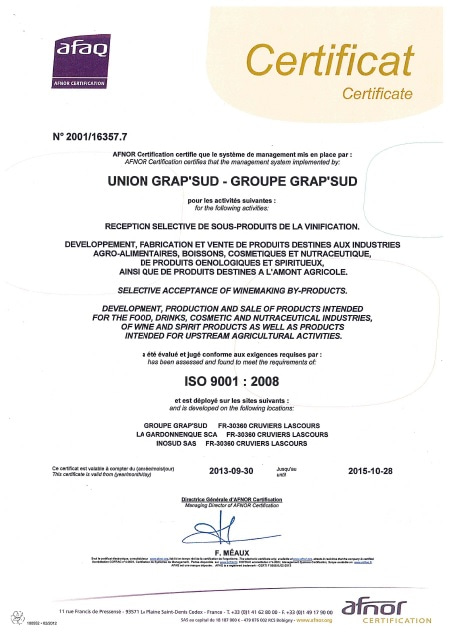 norme iso 9001:2008 grap'sud
